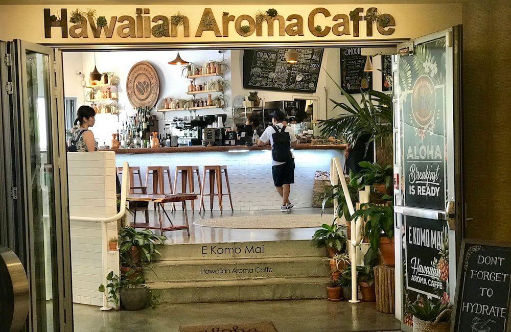 Hawaiian Aroma Caffe, Best Coffee Waikiki, Oahu, Hawaii