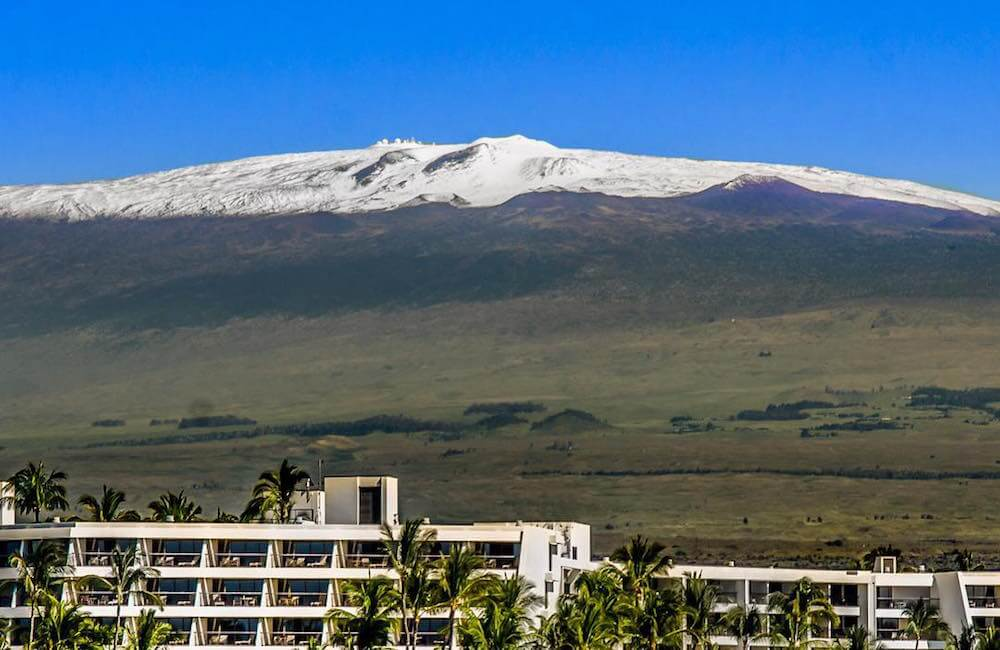 Snow on Mauna Kea, Hawaii Island