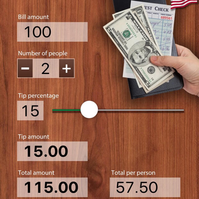 Tip Calculator USA, Hawaii travel apps