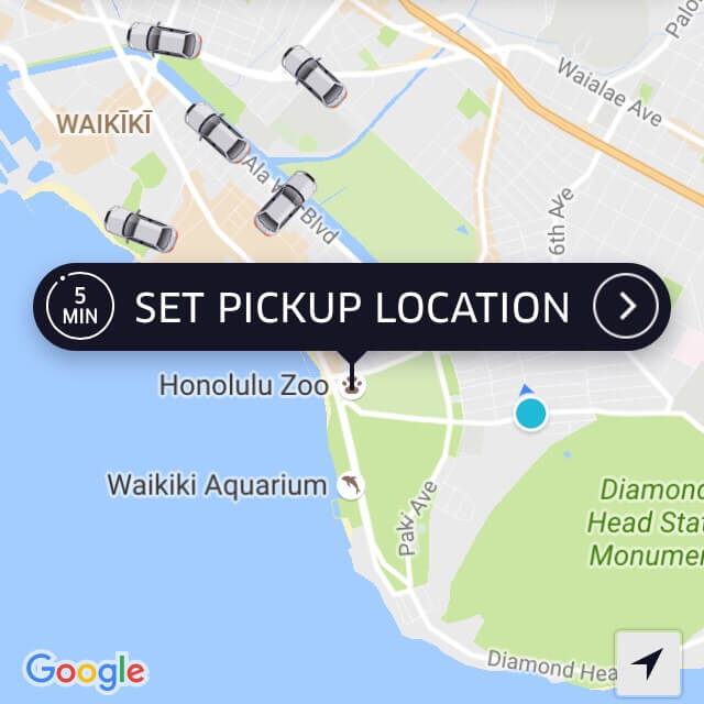 Uber, Hawaii travel app