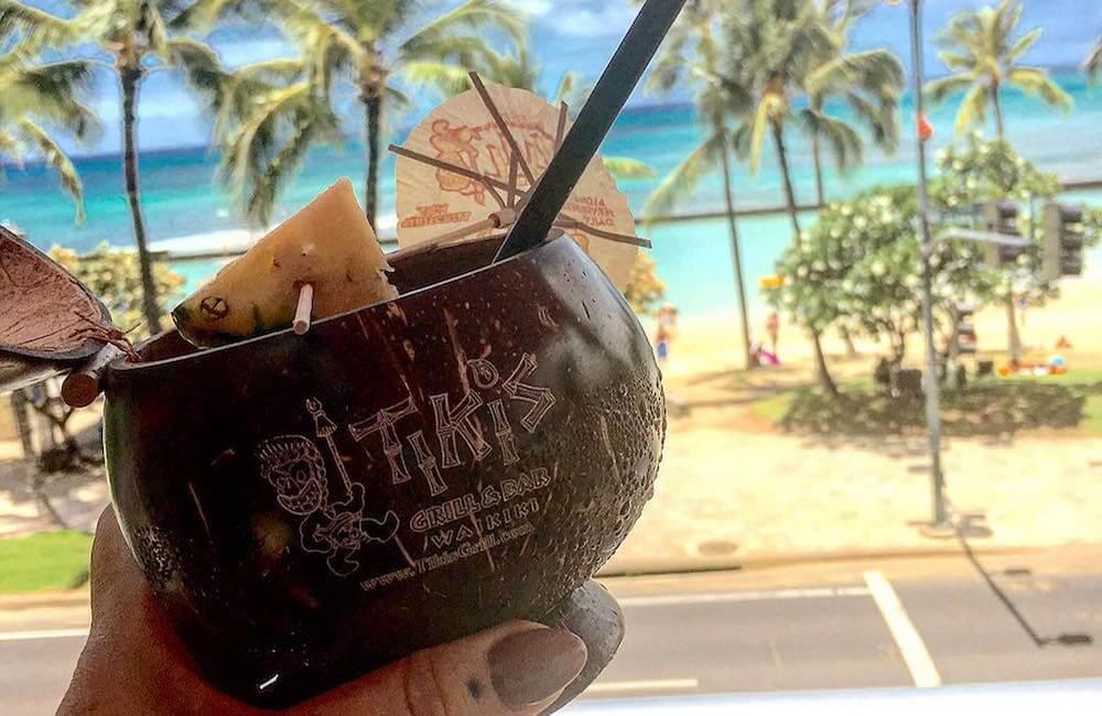 Tiki's Grill & Bar, Waikiki, Oahu, Hawaii