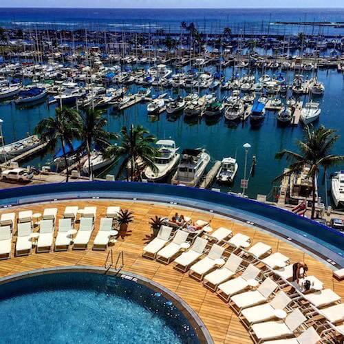 Prince Waikiki Hotel Review, Infinity Pool aerial<br>📷 @hawaiiprincehotelwaikiki