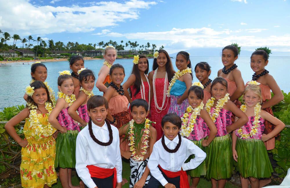 Keiki Hula Show, Napili Kai Beach Resort, Maui, Hawaii