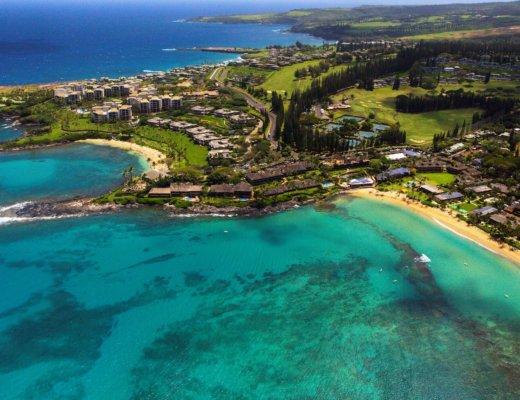 Aerial View Of Napili Kai Beach Resort Maui Hawaii