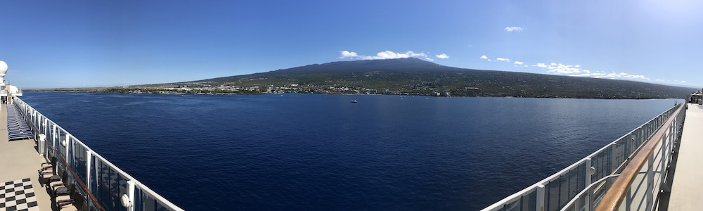View of Kona, Island of Hawaii, Pride of America