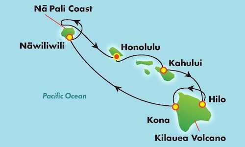 Pride of America Hawaii Itinerary Map