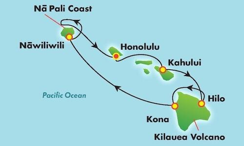 Pride of America Hawaii Itinerary Map