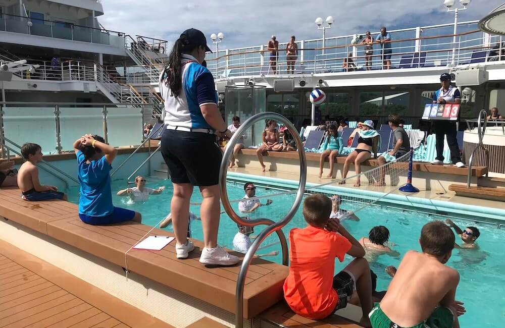 Pride of America, Hawaii Cruise, Water Volleyball