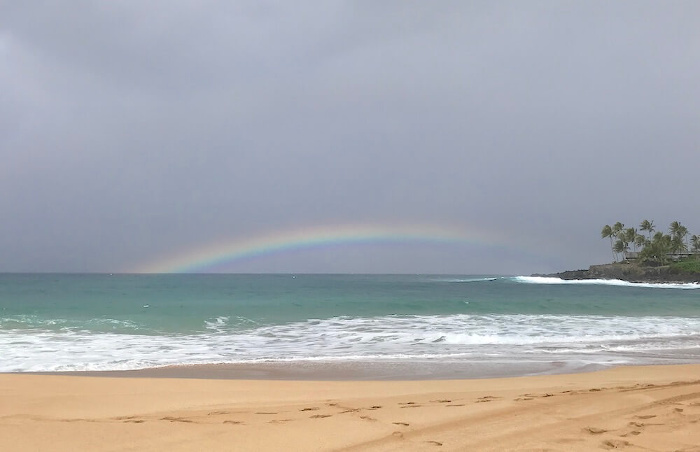 Rainbow, Waimea Bay, North Shore, Oahu, Hawaii