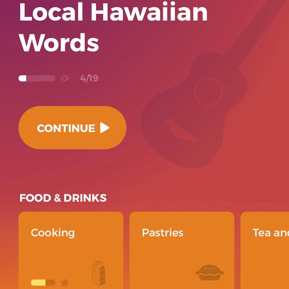 Drops Hawaiian Language, Hawaii travel apps