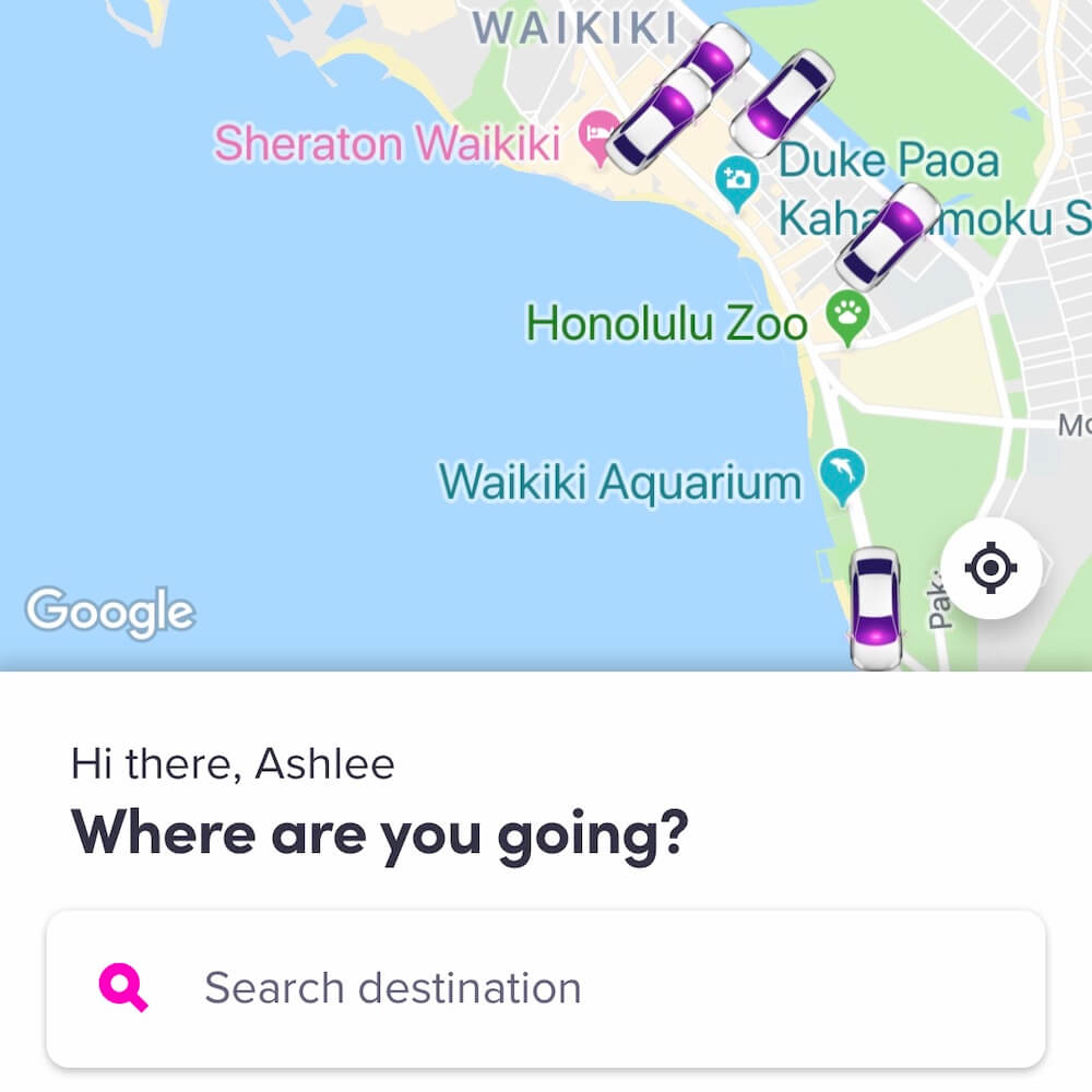 Lyft, Hawaii travel app