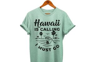 Hawaii Is Calling T-Shirt, Hawaii Clothing, Hawaii-Inspired Shop