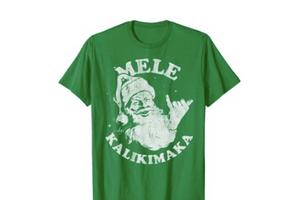 Mele Kalikimaka T-Shirt, Hawaii Christmas Items, Hawaii-Inspired Shop